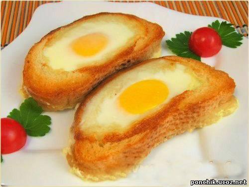 Бутерброды с яйцом Сюрприз