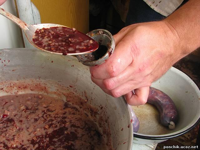 Как сделать дома кровяную колбасу
