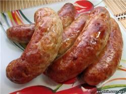 Колбаса с маринованным мясом.