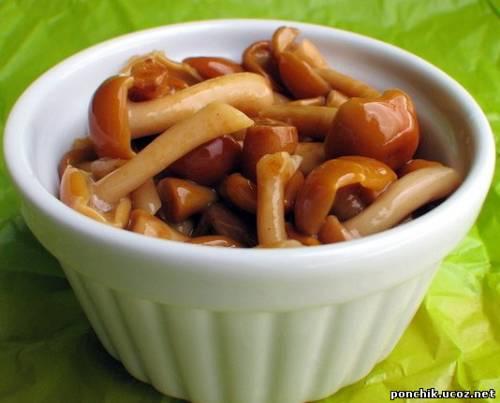 маринованные грибы за 6 минут