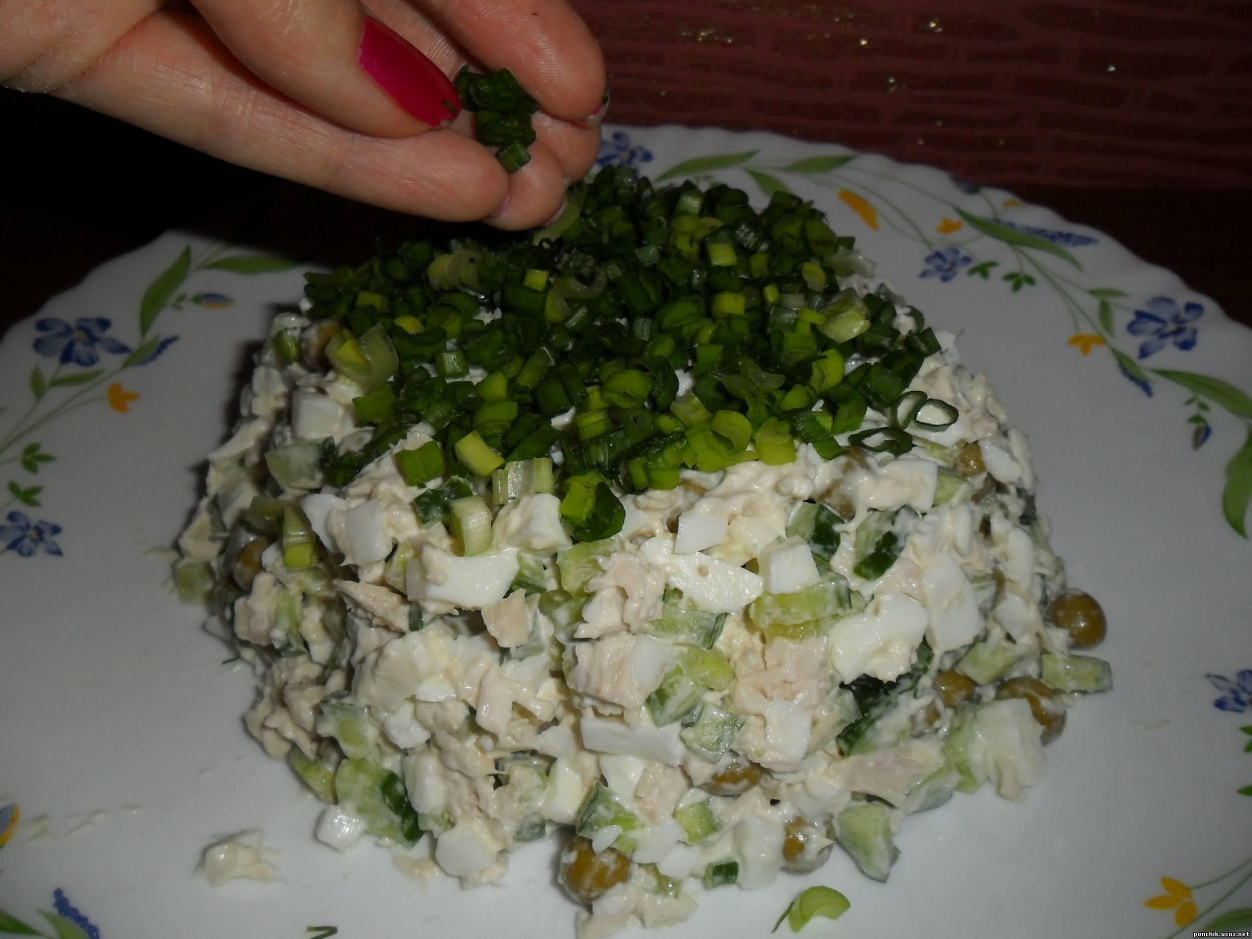 Салат и пошаговым приготовлением