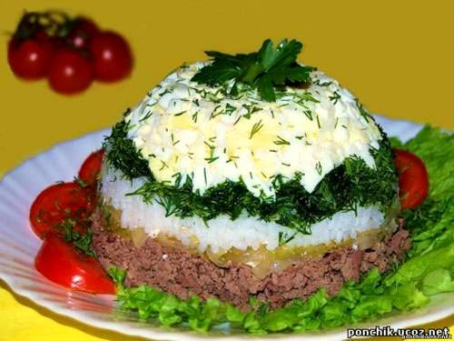 Печеночные салаты 4 рецепта