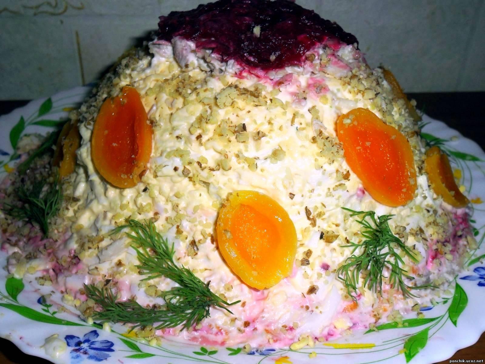 Салат дамская шляпка рецепт с